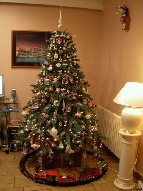 Mes decorations de noel sapin ect for Decoration sapin de noel americain